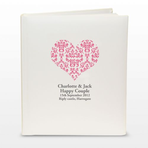 Ruby Damask Heart Traditional Album Personalised